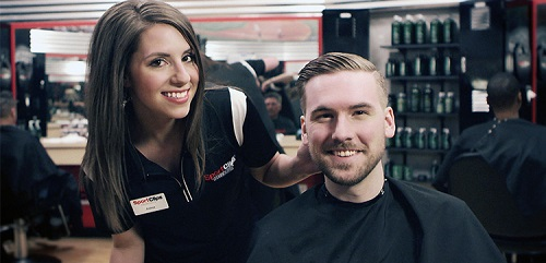 Sport Clips Haircuts of West Chicago​ stylist hair cut